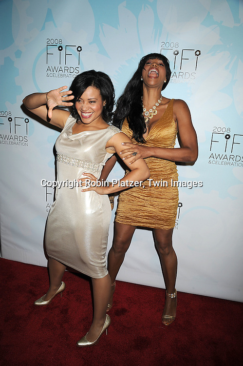 Salt-N- Pepa, Cheryl James and Sandra Denton..posing for photographers at The 36th Annual Fifi Awards..Show on May 20, 2008 at The Park Avenue Armory at 67th Street in New York City. This was presented by The Fragrance Foundation.....Robin Platzer, Twin Images