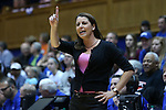 08 February 2015: Duke head coach Joanne P. McCallie. The Duke University Blue Devils hosted the Clemson University Tigers at Cameron Indoor Stadium in Durham, North Carolina in a 2014-15 NCAA Division I Women's Basketball game. Duke won the game 89-60.