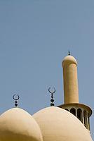 United Arab Emirates, Dubai, Iranian Mosque, Bur Dubai, classical domes and crescent