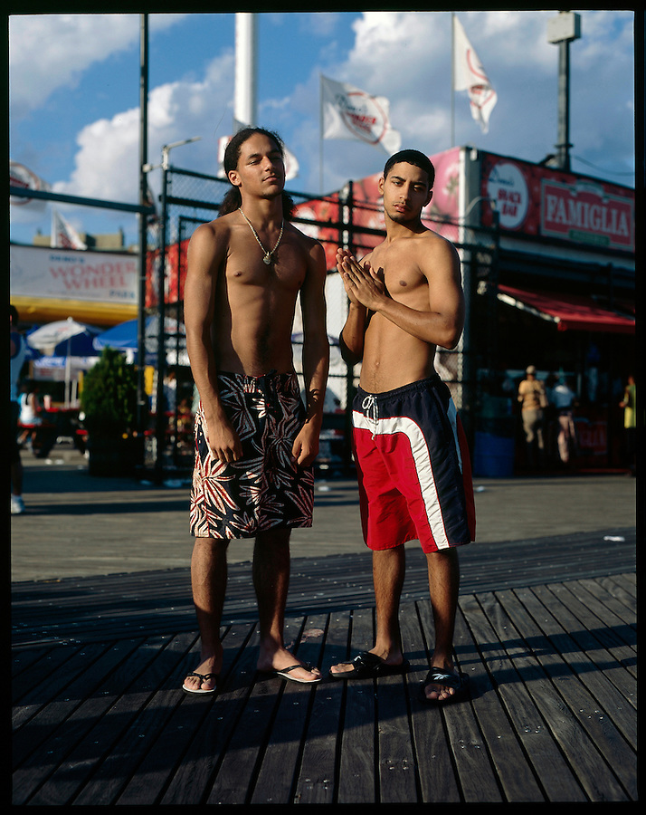 Chris Lilly, 19, and John Lugo, 17. Queens. Coney Island teen-agers. Summer 2008.