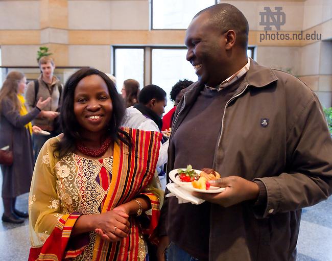 Feb. 22, 2011; Kroc Institute distinguished alumni lecture by Rosette Muzigo-Morrison, Legal Officer, United Nations International Criminal Tribunal for Rwanda, The Hague...Photo by Matt Cashore/University of Notre Dame