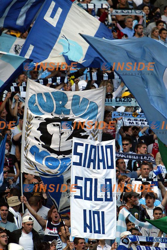 Roma 16/5/2004 Lazio Modena 2-1 Campionato Italiano Serie A 2003/2004 <br /> Tifosi della Lazio<br /> Photo Andrea Staccioli Insidefoto