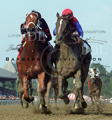 Carson Hollow, left, and You.  2002 Test Stakes.