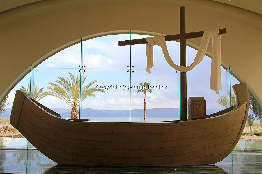 """Israel, """"Duc in Altum"""" Spirituality Center in Magdala Center by the Sea of Galilee"""