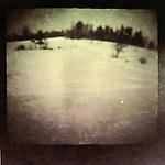 A blurred winter snow scene