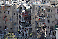 June 09, 2015 - Beirut, Lebanon: An upper view over Shatila refugee camp. (Photo/Narciso Contreras)