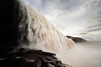 Sapo Falls near Canaima lagoon, in Canaima National Park, Venezuela
