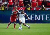 17 September 2011: Colorado Rapids defender Marvell Wynne #22 and Toronto FC defender Mikael Yourassowsky #19 in action during an MLS game between the Colorado Rapids and the Toronto FC at BMO Field in Toronto, Ontario Canada..Toronto FC won 2-1.