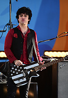 NEW YORK, NY - May 17: Billy Joe Armstrong of the band Green Day performs on ABC's 'Good Morning America' at Rumsey Field in Central Park on May 19, 2017 in New York City. @John Palmer / Media Punch