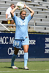 11 September 2011: North Carolina's Courtney Jones. The Texas A&M Aggies defeated the University of North Carolina Tar Heels 4-3 in overtime at Koskinen Stadium in Durham, North Carolina in an NCAA Division I Women's Soccer game.