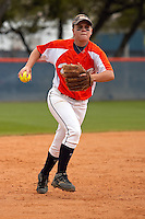 SAN ANTONIO, TX - MARCH 30, 2009: The Texas Tech Red Raiders vs. The University of Texas at San Antonio Roadrunners Softball at Roadrunner Field. (Photo by Jeff Huehn)
