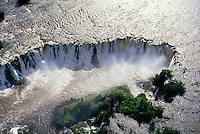 Santo Antonio waterfall on Jari river coming down from Guiana (Guyana) Highlands, Guiana Shield, Brazil. Jari River separates Para and Amapa States.
