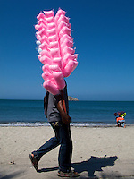 A street vendor with cotton candy - Santa Marta - Colombia