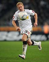 FUSSBALL   1. BUNDESLIGA   SAISON 2011/2012    17. SPIELTAG Borussia Moenchengladbach - FSV Mainz 05             18.12.2011 Mike Hanke (Borussia Moenchengladbach) Einzelaktion am Ball