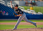 1 March 2017: Miami Marlins pitcher Nick Wittgren on the mound during Spring Training action against the Houston Astros at the Ballpark of the Palm Beaches in West Palm Beach, Florida. The Marlins defeated the Astros 9-5 in Grapefruit League play. Mandatory Credit: Ed Wolfstein Photo *** RAW (NEF) Image File Available ***