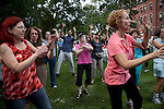 09/25/2011 - Medford/Somerville, MA - A flash mob performs a group dance during Tufts Community Day on Sunday, September 25, 2011. (Jodi Hilton for Tufts University)