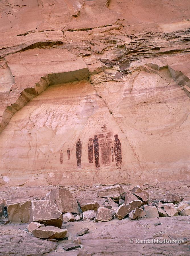 The Holy Ghost pictograph panel, Horseshoe Canyon, Canyonlands National Park, Utah