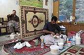 SULAIMANIYAH, IRAQ: Bkhtyar Hawrami (45) has been making Klash for 20 years...Klash are traditional hand made Kurdish shoes. Klash were originally made by members of the gypsy Dom tribe but are now made by numbers of different Kurds in the Hawraman region along the Iraq/Iran border...Photo by Besaran Tofiq/Metrography