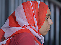 MIAMI, FL - JULY 23: Salma Abdelrahmen attend the Democratic Presumptive Nominee for President former Secretary of State Hillary Clinton and her Democratic candidate for Vice President, U.S. Senator Tim Kaine (D-VA) campaign rally with Florida voters at the Florida International University Panther Arena, Florida on Friday, July 23, 2016. With two days to go until the Democratic National Convention, Hillary Clinton is campaigning in Florida. Credit: MPI10 / MediaPunch