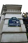 Champs-Élysées sign in Paris.