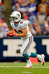 9 October 2005: Wes Welker, wide receiver for the Miami Dolphins, returns a kickoff against the Buffalo Bills at Ralph Wilson Stadium, in Orchard Park, NY. The Bills defeated the division rival Dolphins 20-14. ..Mandatory Photo Credit: Ed Wolfstein