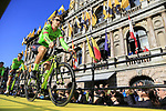 Taylor Phinney (USA) Cannondale-Drapac Pro Team on stage at sign on before the 101st edition of the Tour of Flanders 2017 running 261km from Antwerp to Oudenaarde, Flanders, Belgium. 26th March 2017.<br /> Picture: Eoin Clarke | Cyclefile<br /> <br /> <br /> All photos usage must carry mandatory copyright credit (&copy; Cyclefile | Eoin Clarke)