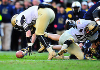 The Black Knights recovers the fumble. Navy Midshipmen defeated Army Black Knights 27-21 during the Army vs. Navy game at the FedEx field in Landover, MD on Saturday, December 10, 2011. Alan P. Santos/DC Sports Box