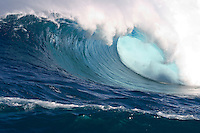 60 foot surf crashes on Maui's Northshore at Peahi (Jaws).