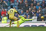 Isma Goncalves beats Wes Foderingham to score for Hearts