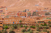 Morocco.  New Ait Benhaddou, across from the World Heritage Site Ksar.