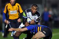 Semesa Rokoduguni of Bath Rugby in possession. European Rugby Champions Cup match, between Leinster Rugby and Bath Rugby on January 16, 2016 at the RDS Arena in Dublin, Republic of Ireland. Photo by: Patrick Khachfe / Onside Images