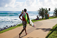 Burleigh Heads, Queensland, Australia (Saturday February 19th 2011). Jeremy Flores (FRA) befoe being disqualified from the Break Burleigh Pro after an altercation in the water during a break in compitition. .Breaka Burleigh Pro - 2011 An International 4-Star Rated $US85,000 Event. DEFENDING event champion Taj Burrow (AUS) continued to send a warning shots through the field  of the  Breaka Burleigh Pro today with strong displays in the Round of 32 and the Quarter finals. Tiago Pires (PRT) also showed himself as a finals contender along with Joel Parkinson (AUS).. Photo: joliphotos.com