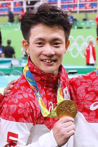 Yusuke Tanaka (JPN), <br /> AUGUST 8, 2016 - Artistic Gymnastics : <br /> Men's Final  <br /> Medal Ceremony  <br /> at Rio Olympic Arena <br /> during the Rio 2016 Olympic Games in Rio de Janeiro, Brazil. <br /> (Photo by Sho Tamura/AFLO SPORT)