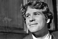 January 1970, New York City. American actor Ryan O'Neal on the movie set of the film Love Story. O'Neal starred as Oliver Barrett IV and Ali MacGraw starred as Jennifer Cavallerri in the romance written by Erich Segal and directed by Arthur Hiller.