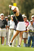 March 27, 2005; Rancho Mirage, CA, USA;  15 year old amateur Michelle Wie tees off during the final round of the LPGA Kraft Nabisco golf tournament held at Mission Hills Country Club.  Wie shot a 1 under par 71 for the day and an even par 288 for the tournament and finished tied for 14th and won the award for low amateur.<br />