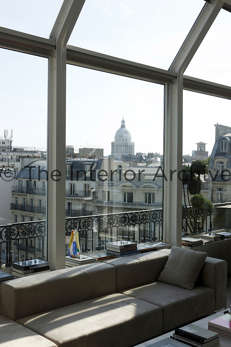 View of the Pantheon from the living room window