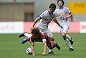 (L to R) Yoshito Okubo (Vissel), Mitsuo Ogasawara (Antlers), .MAY 26, 2012 - Football : 2012 J.LEAGUE Division 1 match between Vissel Kobe 1-2 Kashima Antlers at Home's Stadium Kobe in Hyogo, Japan. (Photo by Akihiro Sugimoto/AFLO SPORT) [1080]