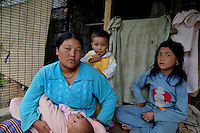 A Bhutanese mother and her children. Thimpu.  Arindam Mukherjee..