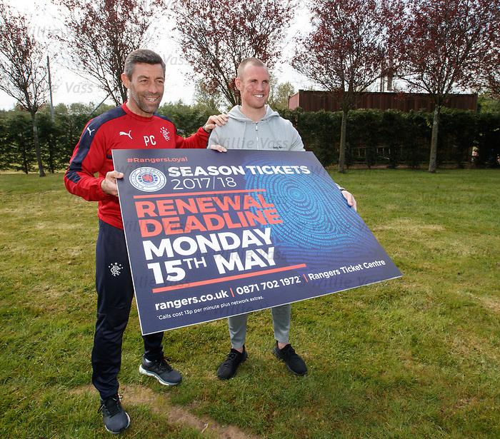 Pedro Caixinha and Kenny Miller promote season ticket renewals