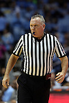 30 December 2014: Referee Jamie Luckie. The University of North Carolina Tar Heels played the College of William & Mary Tribe in an NCAA Division I Men's basketball game at the Dean E. Smith Center in Chapel Hill, North Carolina. UNC won the game 86-64.