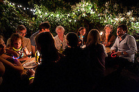 Dinner in Octavia and Matthew's garden, London, England, 2011