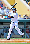 9 March 2012: Detroit Tigers outfielder Austin Jackson in action during a Spring Training game against the Philadelphia Phillies at Joker Marchant Stadium in Lakeland, Florida. The Phillies defeated the Tigers 7-5 in Grapefruit League action. Mandatory Credit: Ed Wolfstein Photo