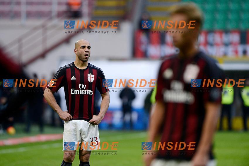 Delusione Alex, Keisuke Honda Milan<br /> Milano 6-01-2016 Stadio Giuseppe Meazza - Football Calcio Serie A Milan - Bologna. Foto Giuseppe Celeste / Insidefoto