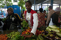 Market day at Port Mathurin. Port Mathurin serves as the capital of the island of Rodrigues, a dependency of Mauritius.