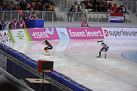 SPEEDSKATING: SOCHI: Adler Arena, 24-03-2013, Essent ISU World Championship Single Distances, Day 4, 500m Men, Yuya Oikawa (JPN), Tae-Bum Mo (KOR), © Martin de Jong