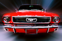Hand painted in Photoshop, Frod Mustang