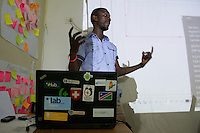 Luther Jeke teaches the branding class at iLab.