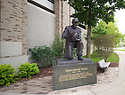 Jun. 13, 2011; Frank Leahy statue outside Notre Dame Stadium..Photo by Matt Cashore/University of Notre Dame