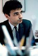 New York, USA - February, 1971. This photograph of Ralph Nader was taken at his office in New York. Ralph Nader (born February 27, 1934) is an American political activist, author, lecturer and attorney, who specialized in consumer protection, humanitarianism, environmentalism and democratic government.