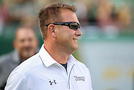 Tampa, FL - September 2, 2016: Towson Tigers head coach Rob Ambrose during game between Towson and USF at the Raymond James Stadium in Tampa, FL. September 2, 2016.  (Photo by Elliott Brown/Media Images International)